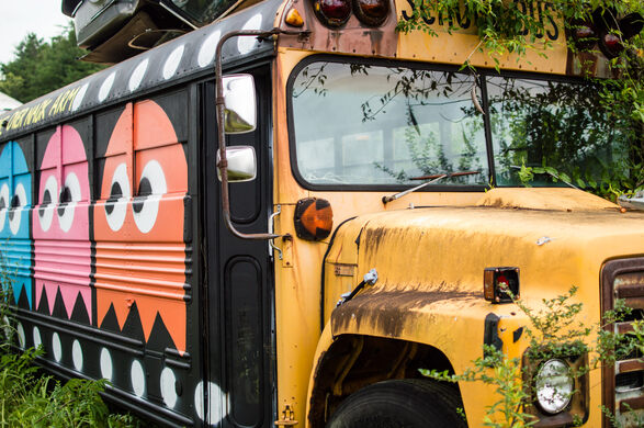 The School Bus Graveyard – Alto, Georgia - Atlas Obscura
