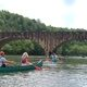Canoers above the Falls.