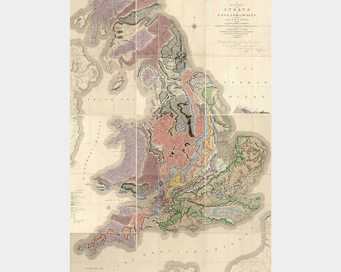 A Geological Map Of England And Wales And Part Of Scotland London