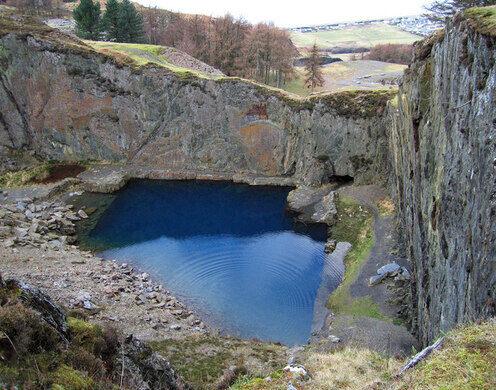 The Blue Lake Gwynedd Wales Atlas Obscura