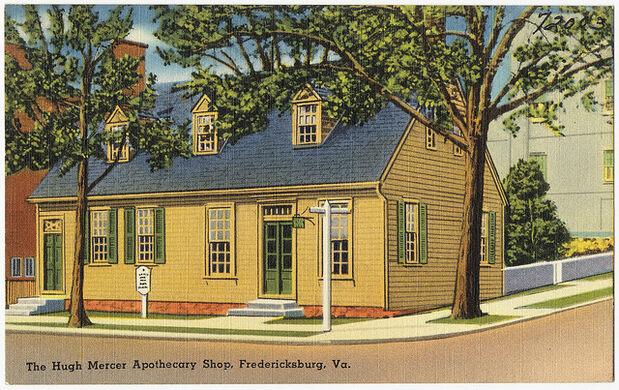 Hugh Mercer Apothecary Shop – Fredericksburg, Virginia - Atlas Obscura