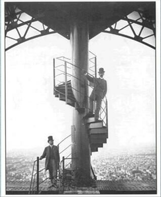 Gustave Eiffel Bottom Accompanied By A Collaborator At The Tower Unknown Author Photograph 1890 Public Domain