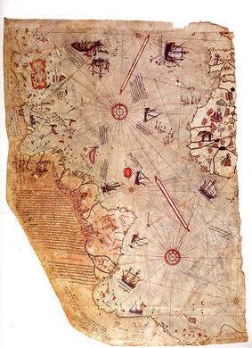 Piri Reis Map At Topkapi Palace Istanbul Turkey Atlas Obscura