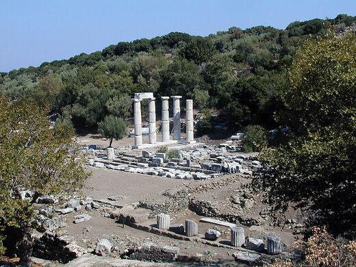 samothrace sanctuary of the great gods paleopoli greece atlas