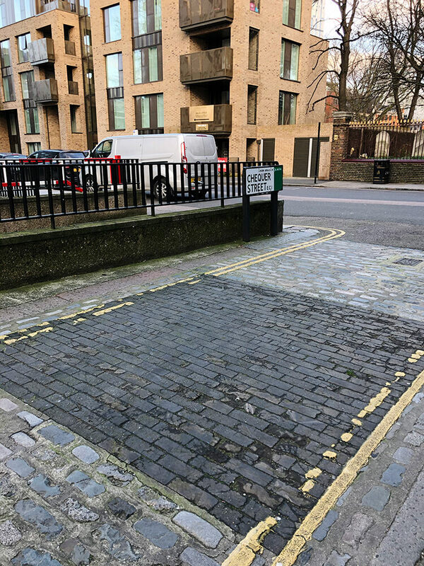 Chequer Street Wooden Paving
