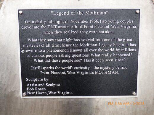 Mothman Statue – Point Pleasant, West Virginia - Atlas Obscura