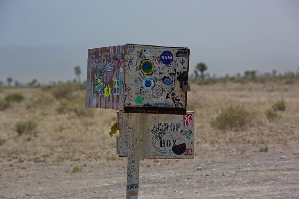 The Black Mailbox – Alamo, Nevada - Atlas Obscura