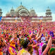 Festival of Colors at the Krishna Temple in Utah, 2014.