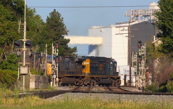 Fostoria Iron Triangle Railpark in Fostoria, Ohio
