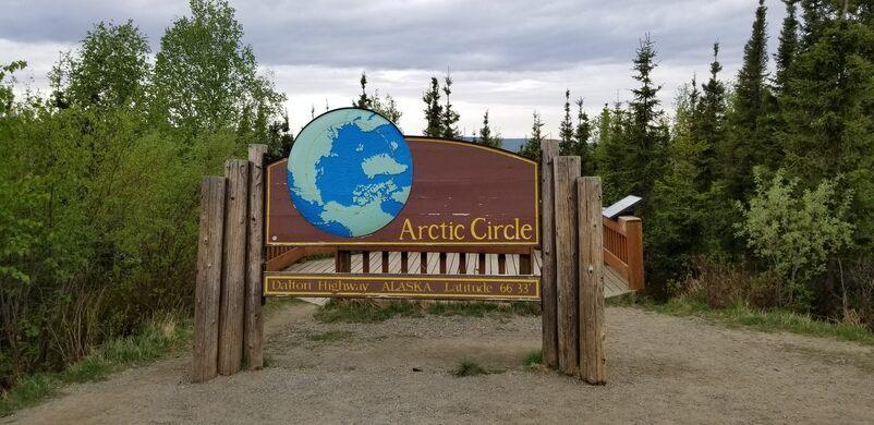 Arctic Circle Monument Sign