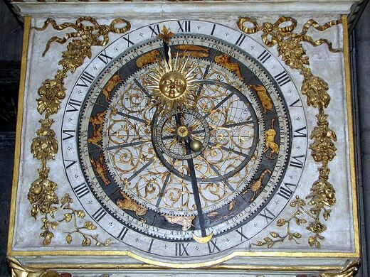 Image result for Lyon, St.-Jean Baptiste Cathedral's astronomical clock will chime throughout the day at 12, 2, 3 and 4 PM.