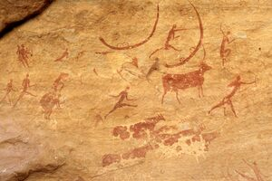 Rock art at Tassili n'Ajjer.