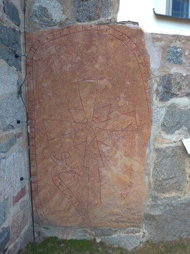 Runestone in Gamla Uppsala Church