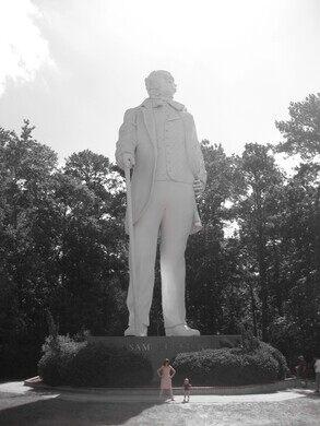 Sam Houston Statue Huntsville Texas Atlas Obscura