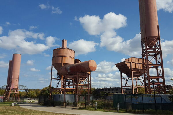 Concrete Plant Park in The Bronx, New York