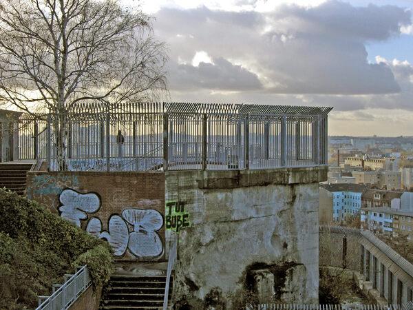 Humboldthain Flak Tower in Berlin, Germany