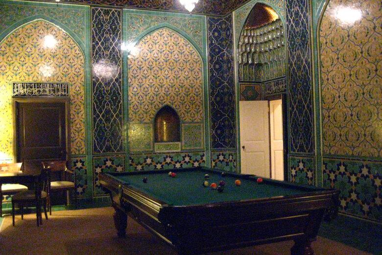 Mid Eastern Themed Billiards Room