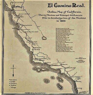 Map Of California Missions Locations.The Bells Of El Camino Real San Luis Obispo California Atlas