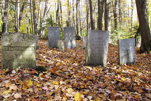 The cemetery on Ricker Mountain.