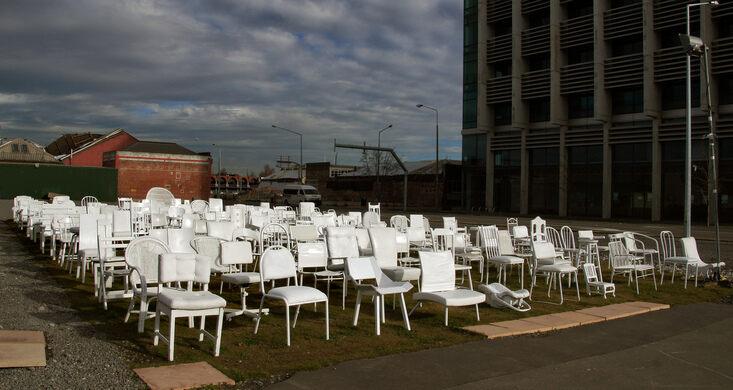 185 Chairs Memorial Bernard Spragg/Public Domain