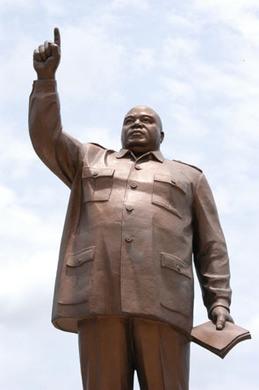 Monument To African Dictator Laurent Kabila Kinshasa