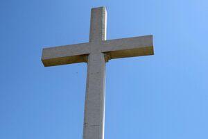 The giant cross.