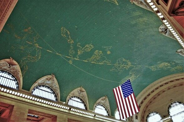 Grand Central Ceiling Dark Patch New