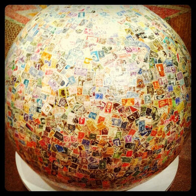 World S Largest Ball Of Stamps Boys Town Nebraska