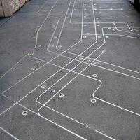 Subway Map Floating On A New York Sidewalk.Sidewalk Subway Map New York New York Atlas Obscura