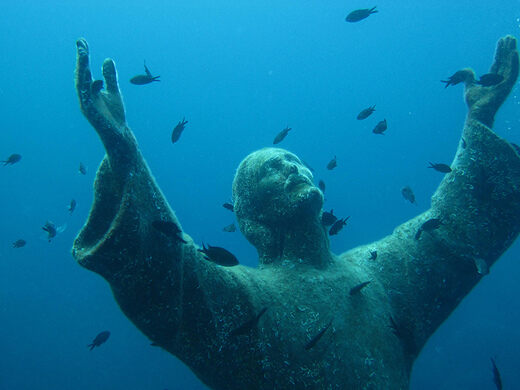 christ of the abyss san fruttuoso italy atlas obscura