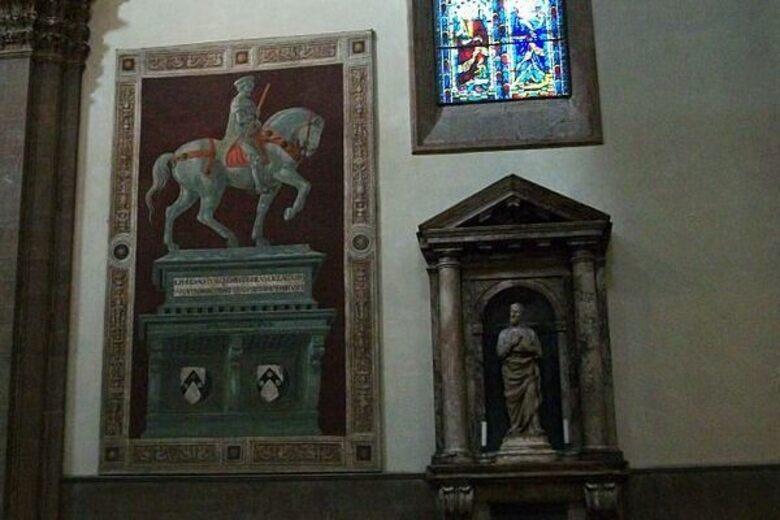 Fresco of John Hawkwood – Florence, Italy - Atlas Obscura