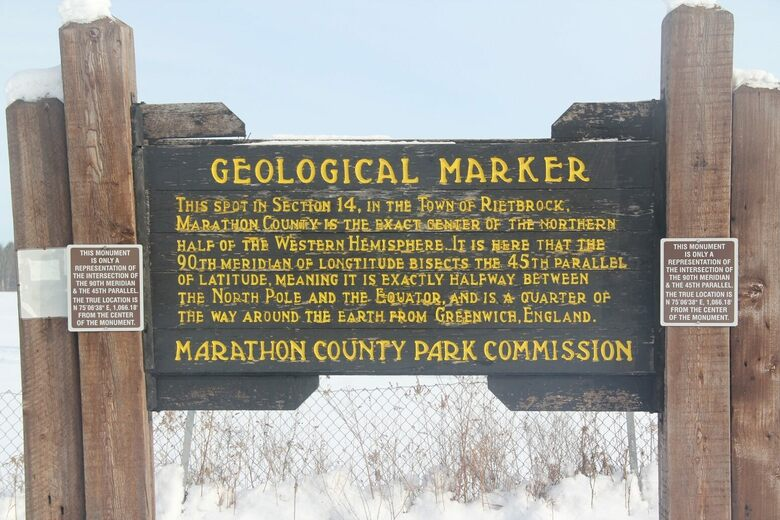 45 X 90 Geographical Marker – Athens, Wisconsin - Atlas Obscura