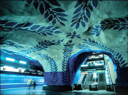 Stockholm Metro Art Gallery Stockholm Sweden Atlas