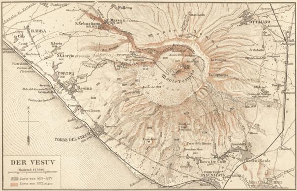 Osservatorio Vesuviano Vesuvius Observatory Ercolano Italy - Vesuvius map