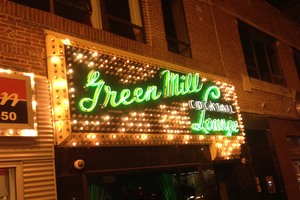Neon sign at the Green Mill