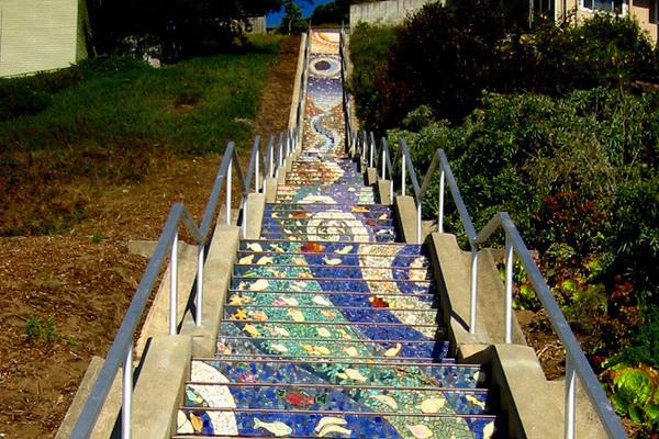 Secret Tiled Staircase San Francisco California Atlas