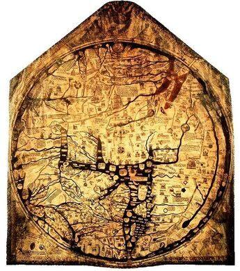 középkori világtérkép Hereford városából