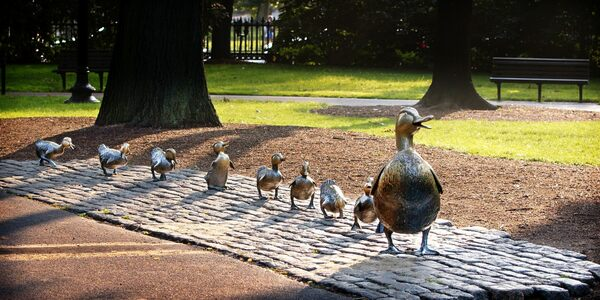 Make Way For Ducklings Statue Boston Massachusetts