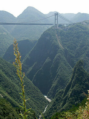 Sidu River Bridge Enshi China Atlas Obscura - Highest river in the world