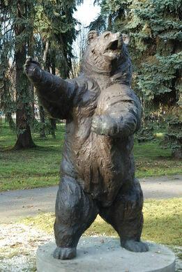 Wojtek the Soldier Bear Statue