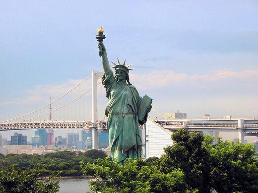 odaiba statue of liberty tokyo japan atlas obscura