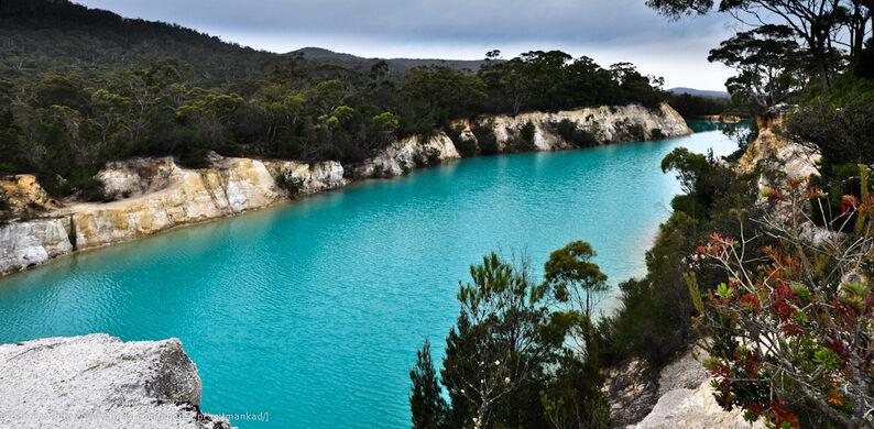 Little Blue Lake – South Mount Cameron, Australia - Atlas Obscura