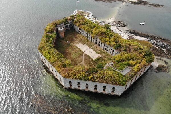 Fort Gorges in South Portland, Maine