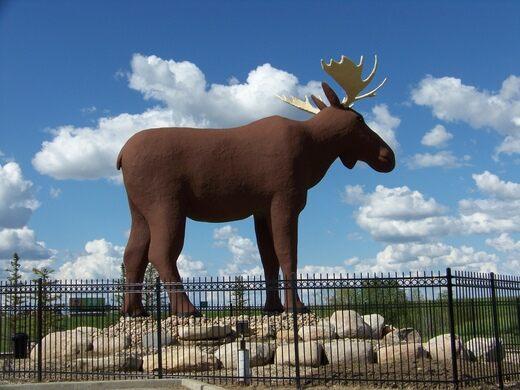 Mac the Moose – Moose Jaw, Saskatchewan - Atlas Obscura
