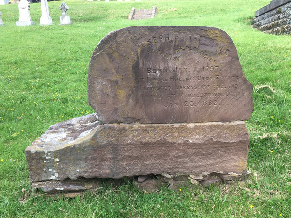 Joseph Barratt's Grave in Middletown, Connecticut