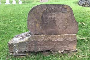 The front of Barratt's grave.