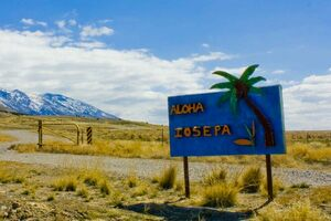 Iosepa welcome sign, Skull Valley, Utah.