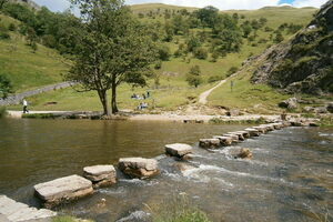 Dovedale stepping stones in 2012.