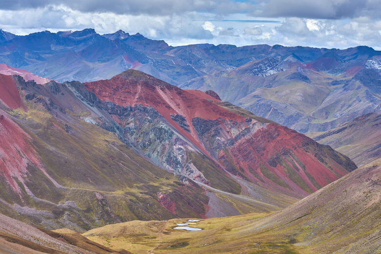 Andes Mountains Peru Map.Rainbow Mountain Pitumarca Peru Atlas Obscura