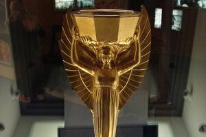 The replica trophy.